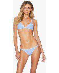 5e76d81e78c Ellejay - Mara Triangle Bikini Top - Blue Texture - Lyst