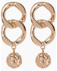 Luv Aj - The Chain Link Hammered Ball Drop Earrings - Rose Gold - Lyst