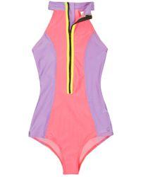 Kovey - Point Break Surf Suit - Guava/lilac/bolt - Lyst