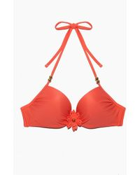 Marlies Dekkers - La Flor Wired Padded Push Up Bikini Top - Salmon - Lyst