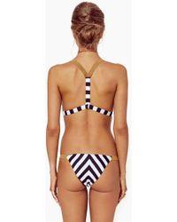 Blue Life - Buckled Skimpy Bikini Bottom - Stripe - Lyst
