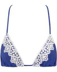Blue Life - Capri Triangle Bikini Top - Marine - Lyst