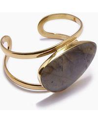 Lena Bernard - Naeva Labradorite Gold Cuff Bracelet - Lyst