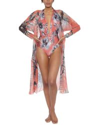Adriana Degreas - Maxi Flower Long Robe - Lyst