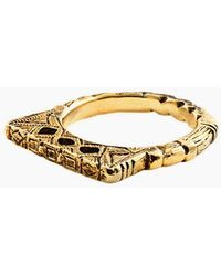 "Vanessa Mooney - Fight The Power ""d"" Ring - Gold - Lyst"