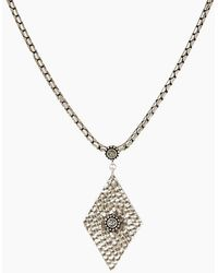 Luv Aj - The Hammered Triangle Charm Necklace - Silver - Lyst