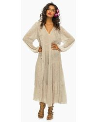 Indah - Belladonna Long Sleeve Dress - White - Lyst