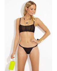 a03876e4123d Beach Bunny Ava Mesh Bralette Bikini Top - Black