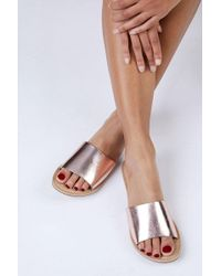 Matisse - Rose Gold Cabana Sandals - Lyst