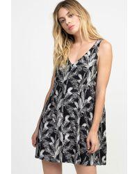 RVCA - Landline Woven Dress - Black - Lyst