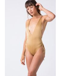 Indah - Playground Side Cinch One Piece - Cairo - Lyst