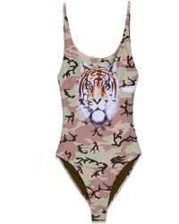 Wildfox - Kenny One Piece - Camo With Tiger - Lyst