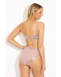 Norma Kamali - Stud High Waist Bikini Bottom - Rose Pink - Lyst