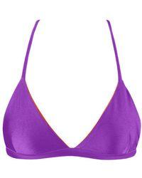 Kovey - Coast Criss Cross Bikini Top - Purple - Lyst