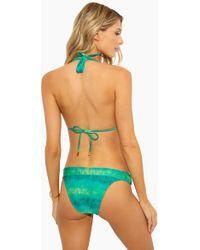 ec5da74b5a Sofia By Vix Lagoon Braid Bikini Top in Green - Lyst