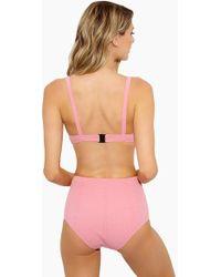 Lisa Marie Fernandez - Magdalena Button High Waist Bikini Bottom - Baby Pink - Lyst