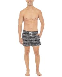 Bikini.com Aztec Print Mid Length Swim Trunks (men's)