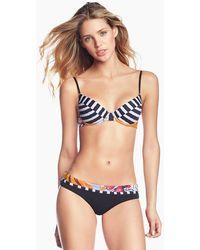 Maaji - Bahia Bahia Lace Up Back Bikini Top - Floral Stripe Print - Lyst