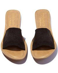 Matisse - Black Suede Cabana Sandals - Lyst