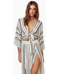Blue Life - Wrapped Top - Bluebell Boho Stripes - Lyst