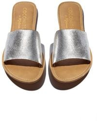 Matisse - Silver Cabana Sandals - Lyst