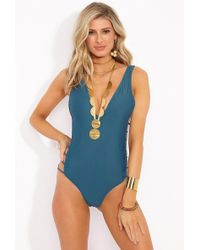 Mia Marcelle - Avies One Piece Swimsuit - Teal - Lyst