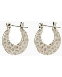 Luv Aj - The Mini Hammered Sheet Hoops - Silver - Lyst