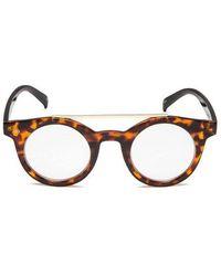Privé Revaux - The Reagan Unisex Round Aviator Sunglasses - Brown/tortoise - Lyst