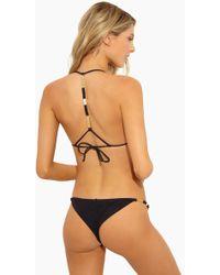 ViX Ella String Cheeky Bikini Bottom - Black