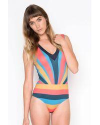 fe2472e46fd Seea Leana Turtleneck Textured Sleeveless One Piece Swimsuit - Sumi ...