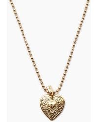 Vanessa Mooney - The Angelica Heart Necklace - Gold - Lyst