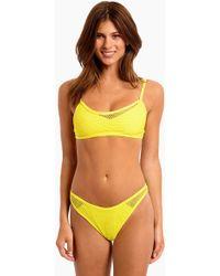 L*Space - Naomi Mesh Bralette Bikini Top - Canary Yellow - Lyst