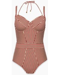 Marlies Dekkers - Holi Vintage Wired Padded One Piece Swimsuit - Red Ecru - Lyst