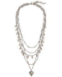 Luv Aj - Moonstone Multi Charm Necklace - Lyst