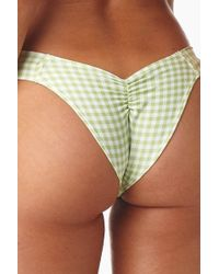 Montce Swim - Uno Scrunch Bikini Bottom - Vert Green Gingham - Lyst