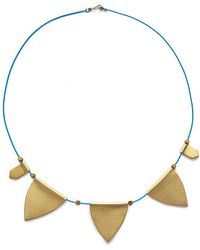 Sandy Hyun - String Charm Choker Necklace - Blue/gold - Lyst