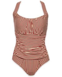 Marlies Dekkers - Holi Vintage Underwire Padded One Piece Swimsuit - Red Ecru - Lyst