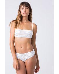 Indah - Isabel Crochet Bandeau Bikini Top - White - Lyst
