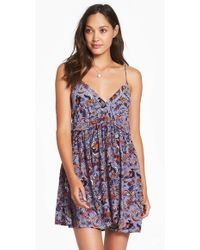Tigerlily - Paradis Sun Dress - Chambray Floral - Lyst