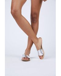 Matisse - Silver Cabana Sandals - Lyst
