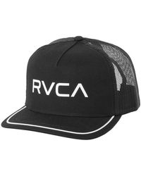 RVCA - Title Trucker Hat - Black - Lyst