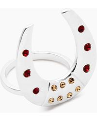 Vanessa Mooney - The Brooklyn Horseshoe Ring - Silver - Lyst