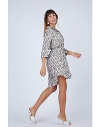 Heidi Klein - Relaxed Shirt Dress - Square Print - Lyst