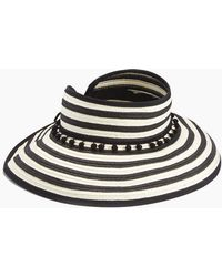 L*Space - Lewis Stripe Roll Up Hat - Black - Lyst