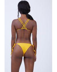Keva J - Jasmine Cut Out Bikini Bottom - Mustard - Lyst