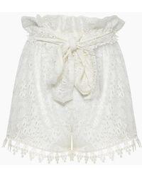 Waimari Cindy Lace Cover-up Shorts - Ivory