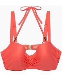 Marlies Dekkers - La Flor Wired Padded Big Bust Bikini Top - Salmon - Lyst