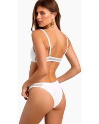 L*Space - Stevie Mesh Cheeky Bikini Bottom - White - Lyst