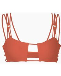 Mia Marcelle - Reina Strappy Bra Top - Curry - Lyst