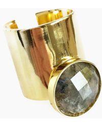 Elizabeth Stone - Moon Gazer Cuff Ring - Labradorite - Lyst